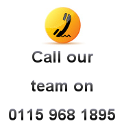 Call our team on 0115 968 1895